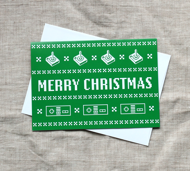 8 bit Christmas Card – Awesome Sauce Designs – Vancouver Stained ...