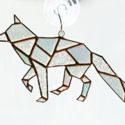 stained glass fox