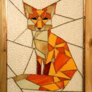 Geometric Fox Panel