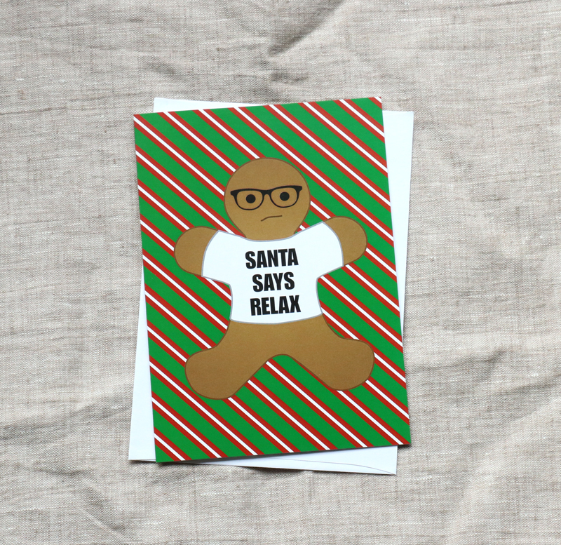 Hipster Gingerbread Man Christmas Card – Awesome Sauce Designs ...