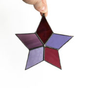 Purple Star Stained Glass