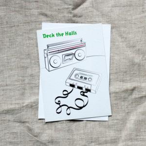 Deck the Halls Card
