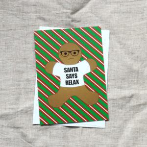 Hipster Gingerbread Man